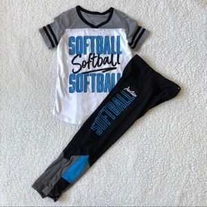 Justice Girls Softball Outfit Size 6/7